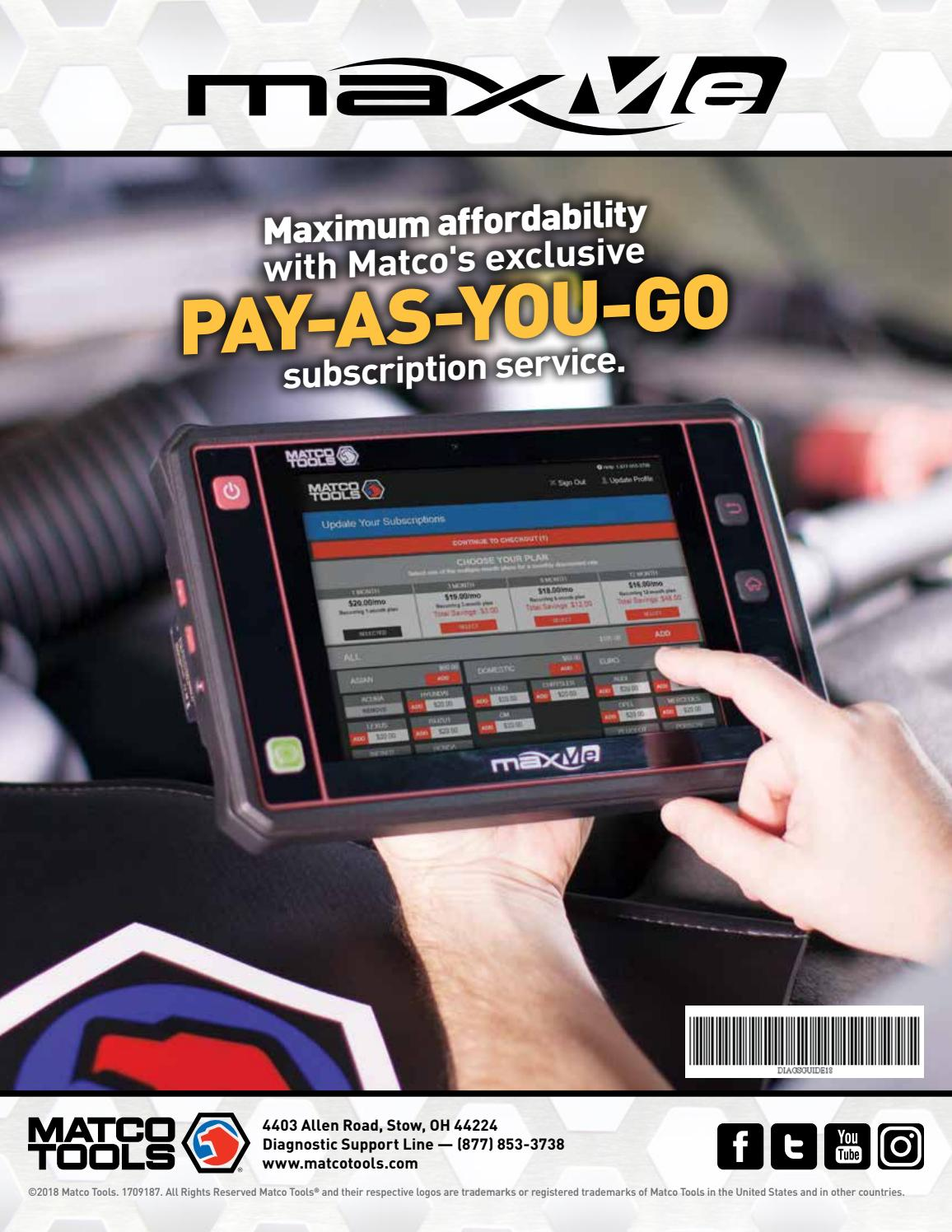 Diagnostic sales guide by SteveHornersMatcoTools - issuu