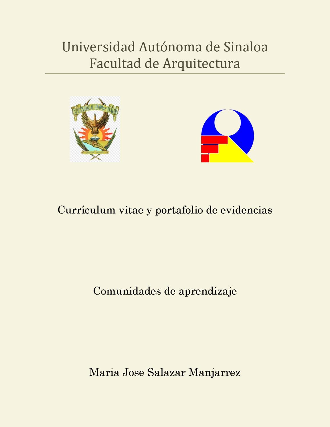 CURRICULUM VITAE y PORTAFOLIO DE PROYECTOS (Comunidades UAS) by ...