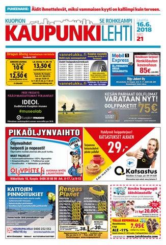 Kuopion Kaupunkilehti 3.6.2017 Kesäextra by Kuopion Kaupunkilehti ... 3404b330f9