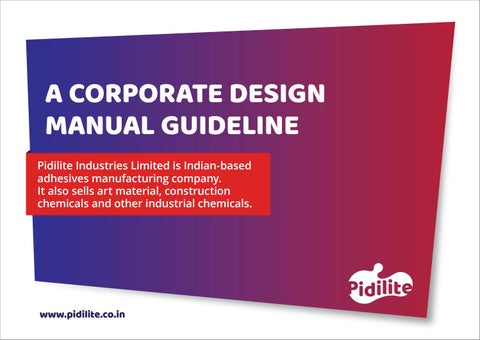 Pidilite Corporate Design Manual By Smit Mistry Issuu