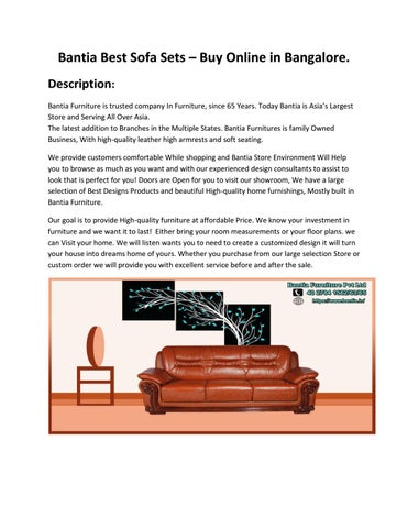 Bantia Best Sofa Sets – Buy Online in Bangalore. by BANTIA ...