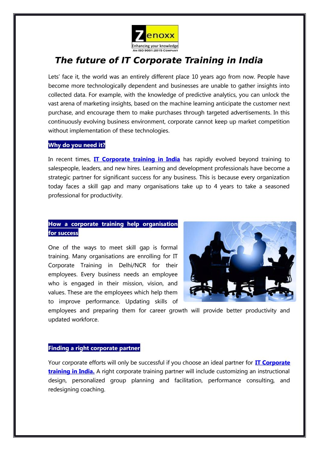 Corporate Training Companies In India By Zenoxxknowledge Issuu
