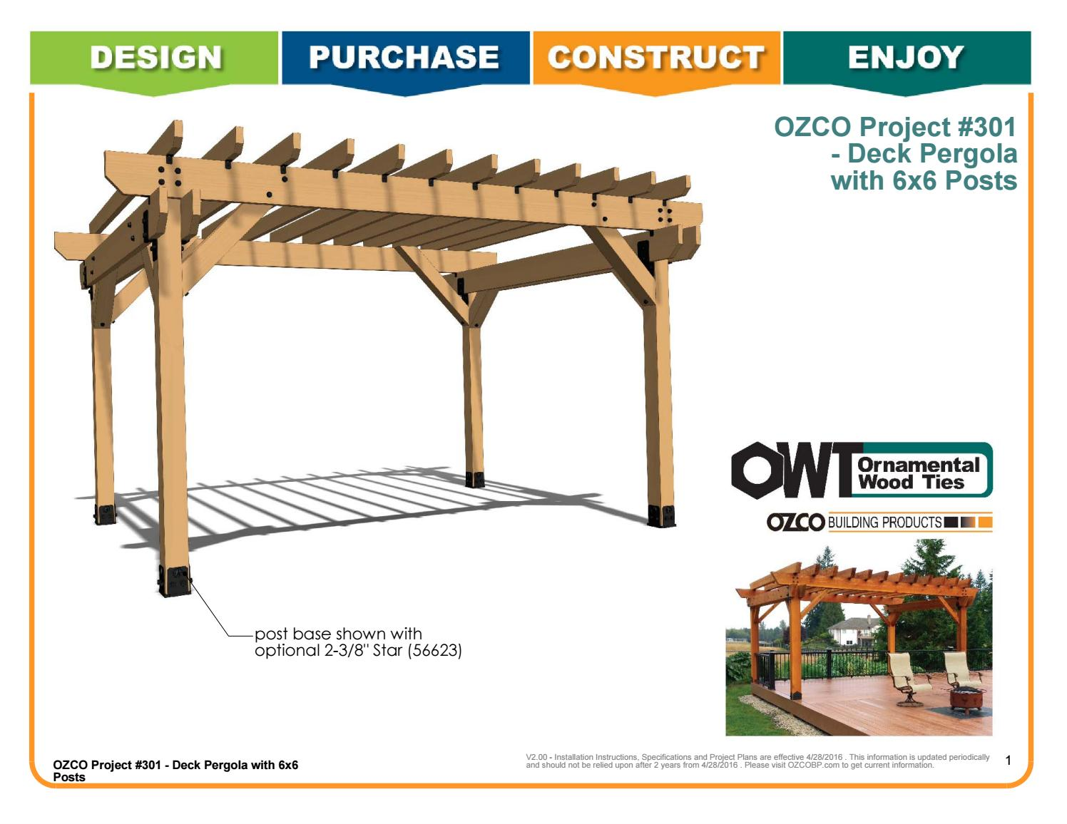 Ozco Project 301 Deck Pergola With 6x6 Posts By Ozco Building Products Issuu