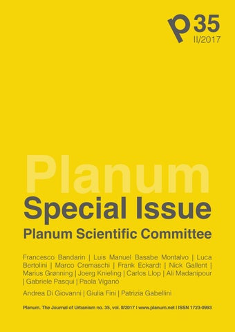 PLANUM SPECIAL ISSUE no  35, vol  II/2017 by Planum the Journal of