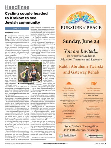 """Headlines Cycling couple headed to Krakow to see Jewish community leaders""""   courses on Torah study and Arabic 8adfd8bc9"""
