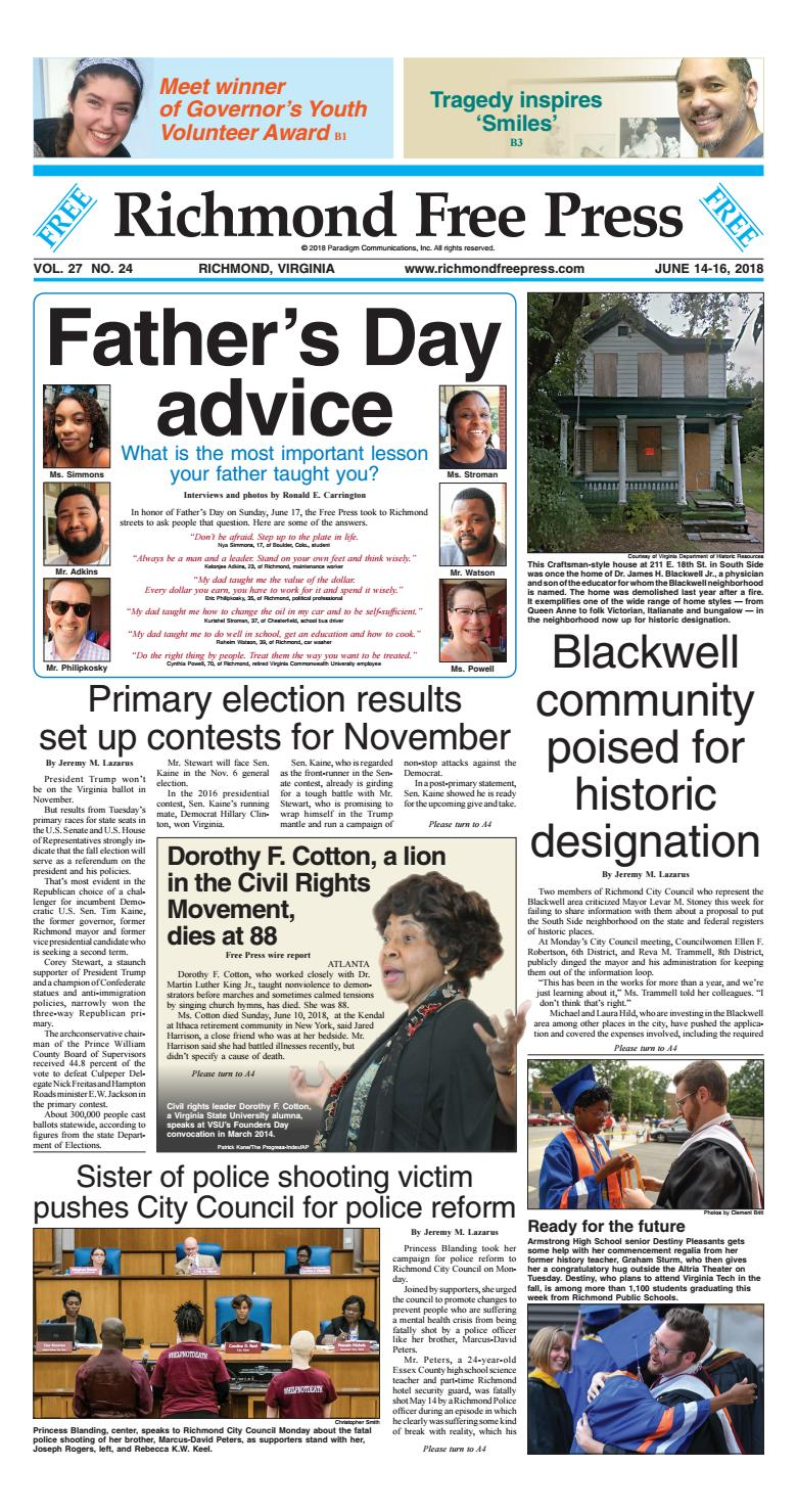 Richmond Free Press june 14 16, 2018 issue by Richmond Free Press