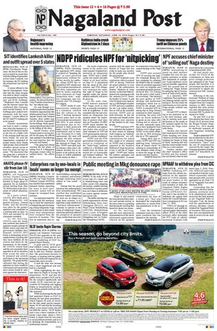 June 16, 2018 by Nagaland Post - issuu