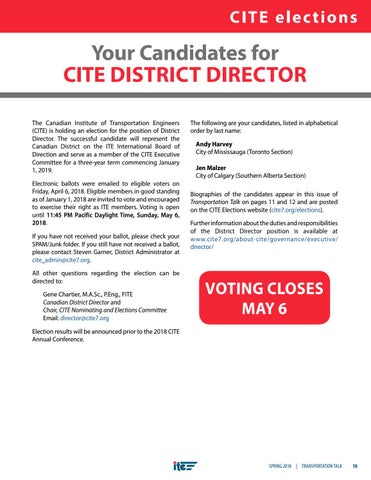 Page 13 of CITE District Director Elections 2018