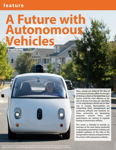Page 32 of A Future with Autonomous Vehicles by Bruce Belmore