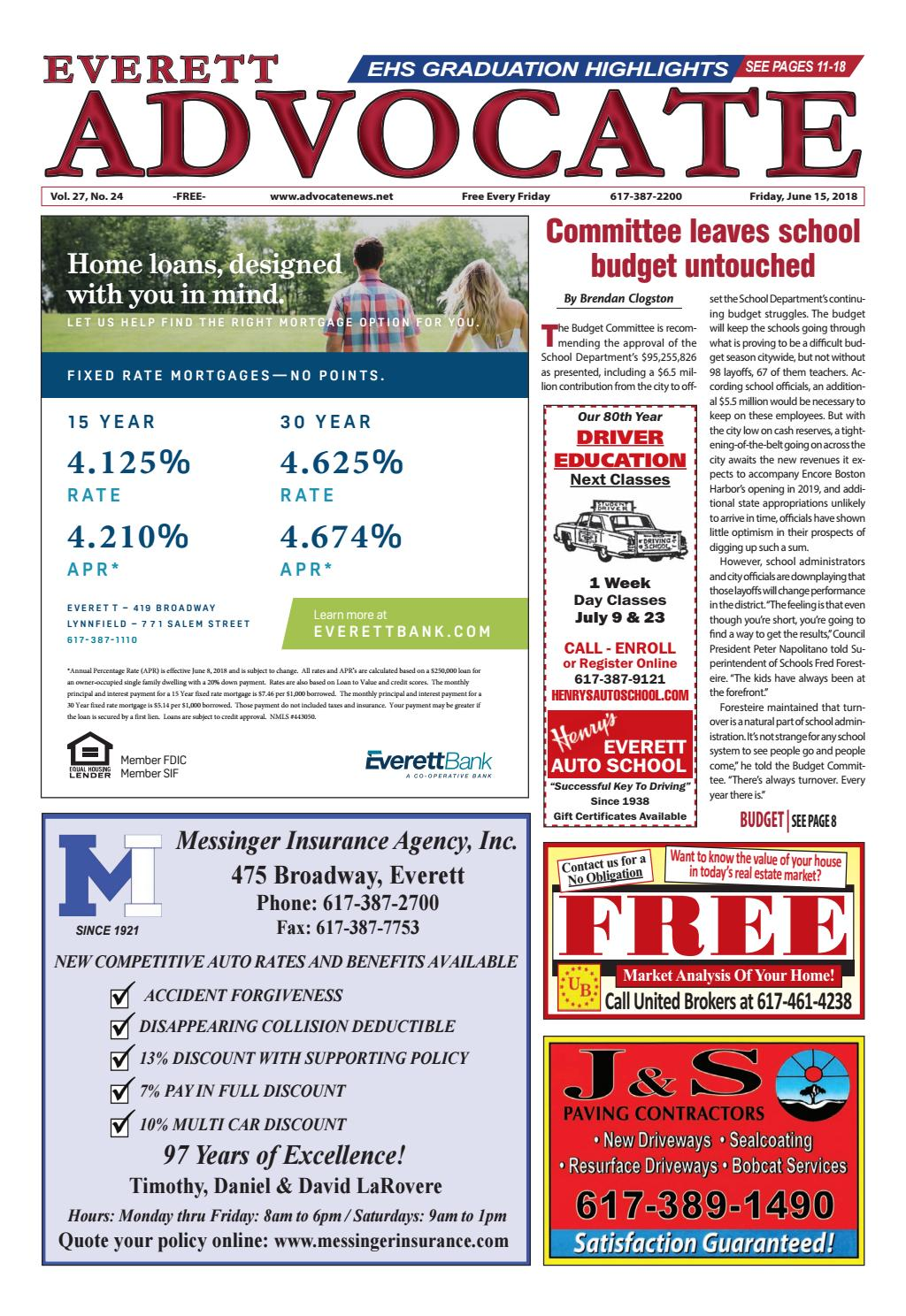 THE EVERETT ADVOCATE Friday June 15 2018 By Mike Kurov Issuu