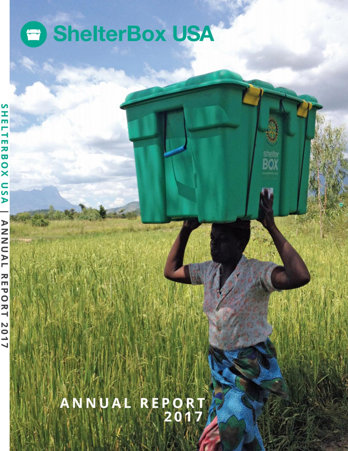 2017 Shelterbox Usa Annual Report By Shelterbox Usa Issuu