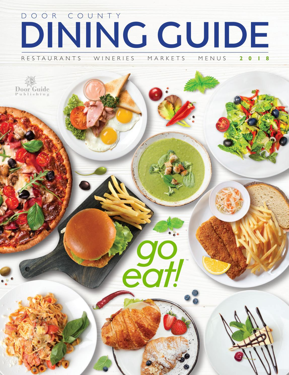 2018 Door County Dining Guide By Door Guide Publishing Issuu