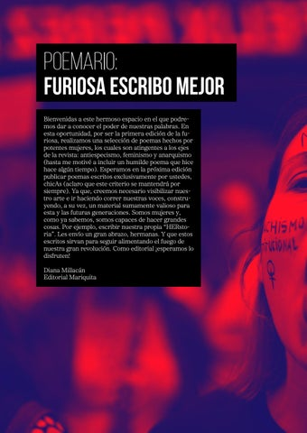 Page 36 of Poemario: Furiosa escribo mejor