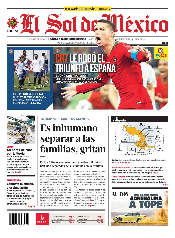 El Sol de México 16 de junio 2018 by El Sol de México - issuu 30a9095394d3e