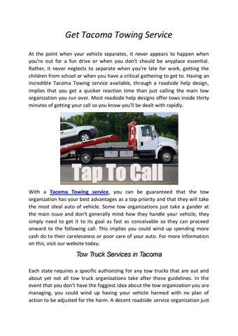 Truck Service Near Me >> 24 Hours Tow Truck Service In Tacoma By Towing Services Near
