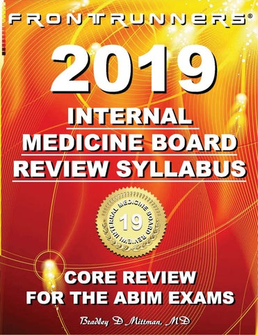 FRONTRUNNERS® 2019 INTERNAL MEDICINE BOARD REVIEW SYLLABUS
