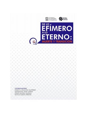 7d347e1a9a0 De lo efímero a lo eterno  muerte y transición by Escuela de Artes ...