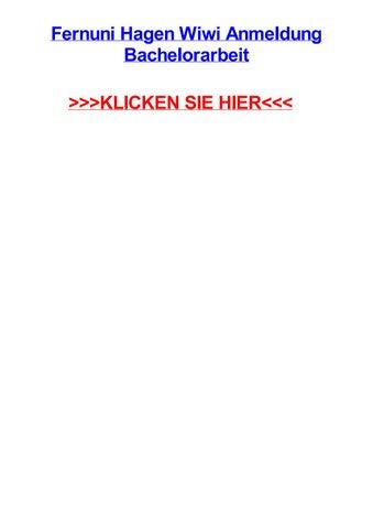 fernuni hagen wiwi anmeldung bachelorarbeit klicken sie hier - Fernuni Hagen Bewerbung