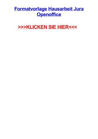 Formatvorlage Hausarbeit Jura Openoffice By Stacyhbas Issuu