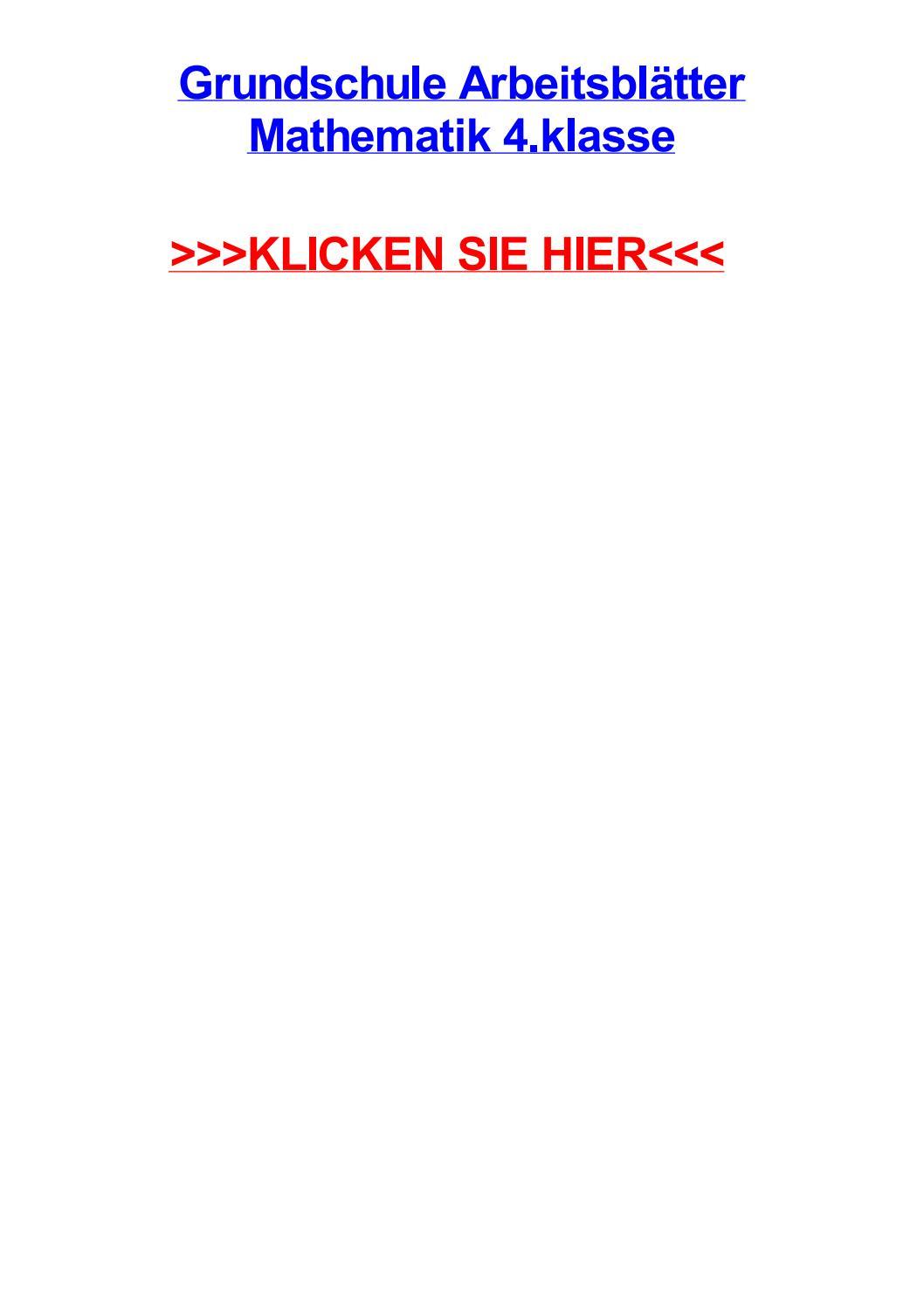 Grundschule arbeitsbltter mathematik 4 klasse by danhmqmh - issuu
