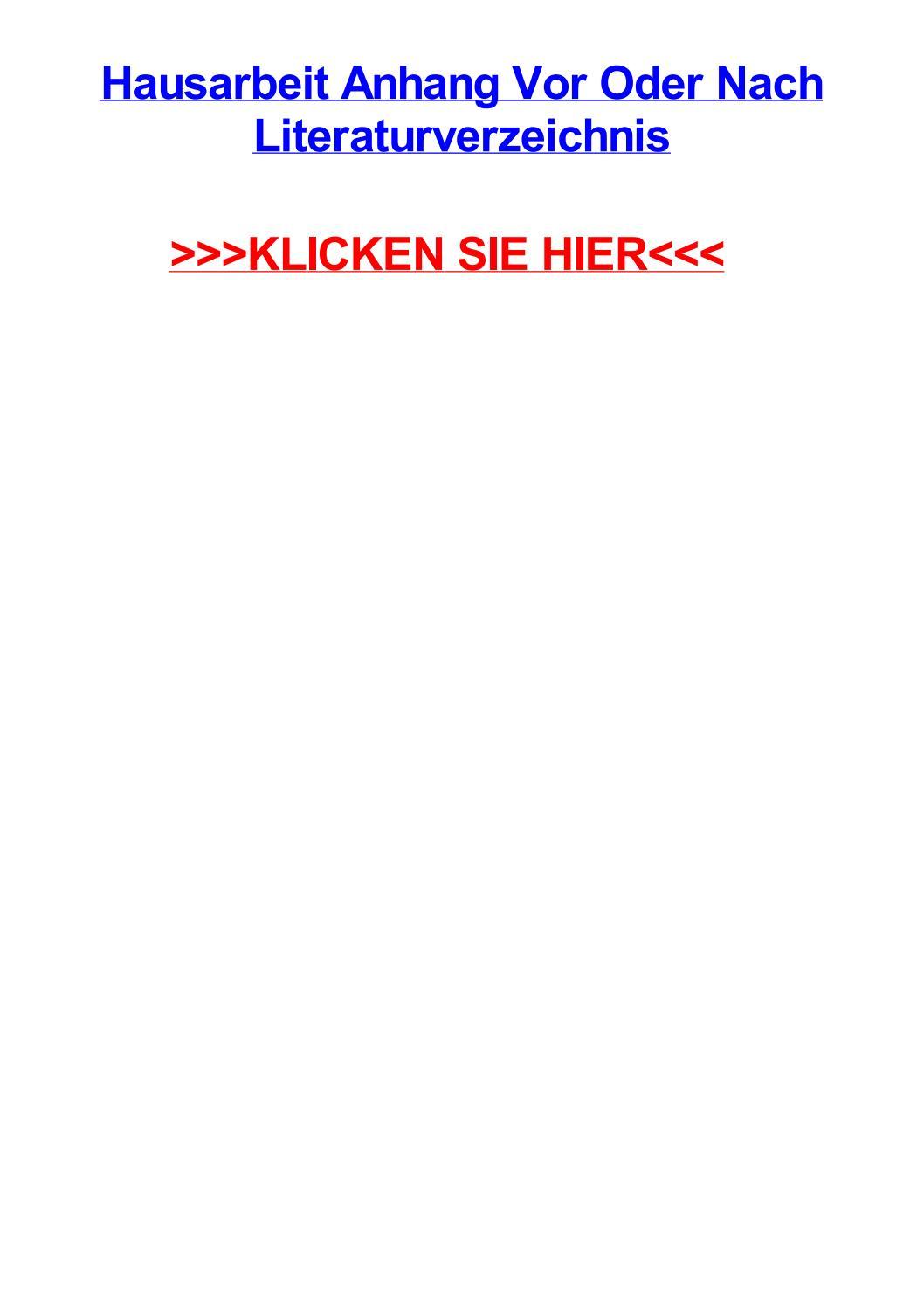 Hausarbeit Anhang Vor Oder Nach Literaturverzeichnis By Beckycdtf