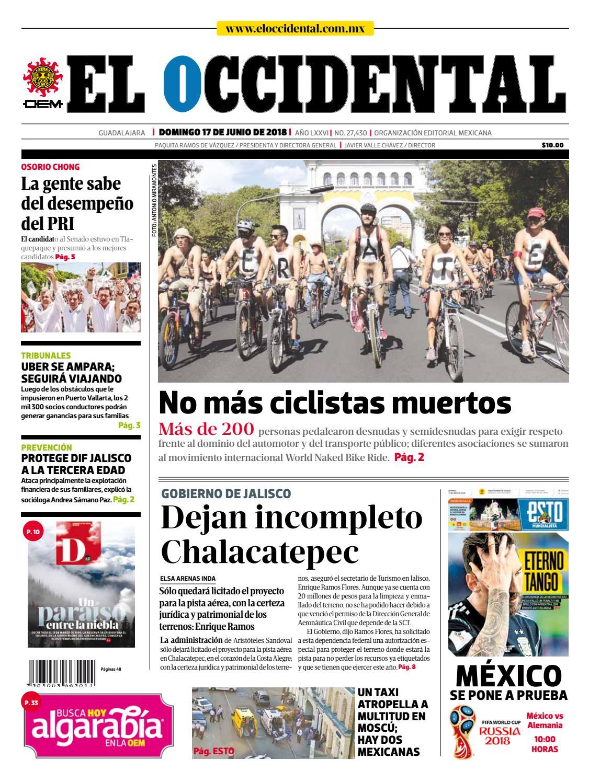 Portada Edición Digital 3 By El Occidental Issuu