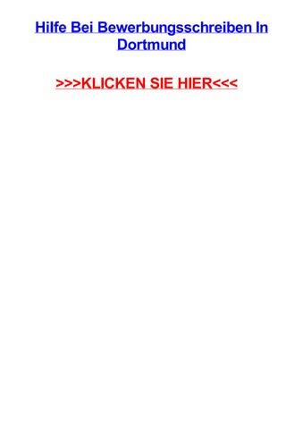 Hilfe Bei Bewerbungsschreiben In Dortmund By Bradjusht Issuu
