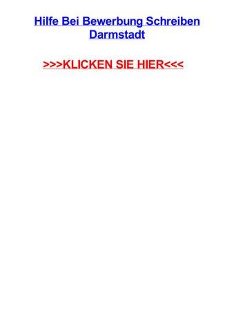 Hilfe Bei Bewerbung Schreiben Darmstadt By Mariaknfhe Issuu