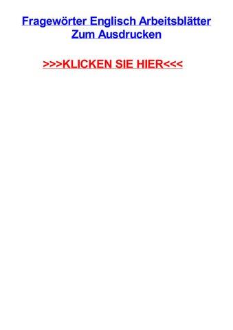 Fragewrter englisch arbeitsbltter zum ausdrucken by jessicaqlwey - issuu
