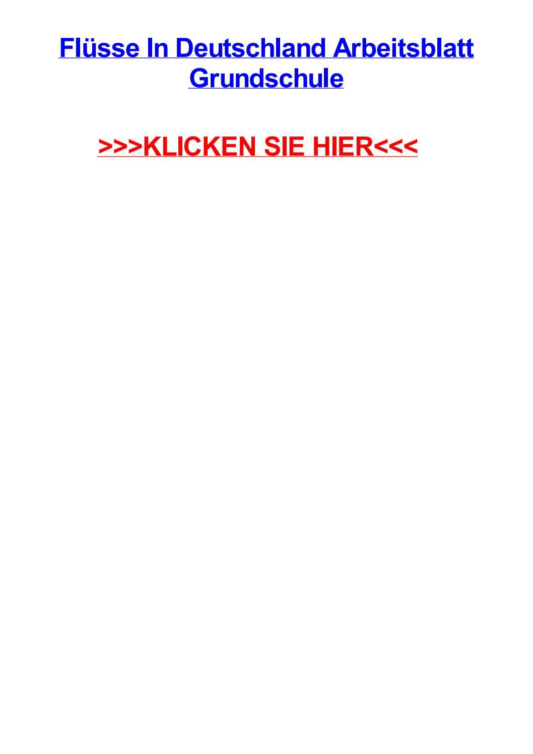 Fljsse in deutschland arbeitsblatt grundschule by amylobg - issuu