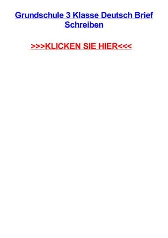 Grundschule 3 Klasse Deutsch Brief Schreiben By Heatherveln Issuu