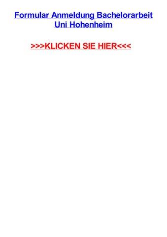 Formular anmeldung bachelorarbeit uni hohenheim by garrettctti - issuu
