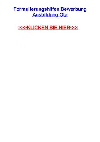 formulierungshilfen bewerbung ausbildung ota monschau nordrhein westfalen essay flight destinations - Formulierungshilfen Bewerbung