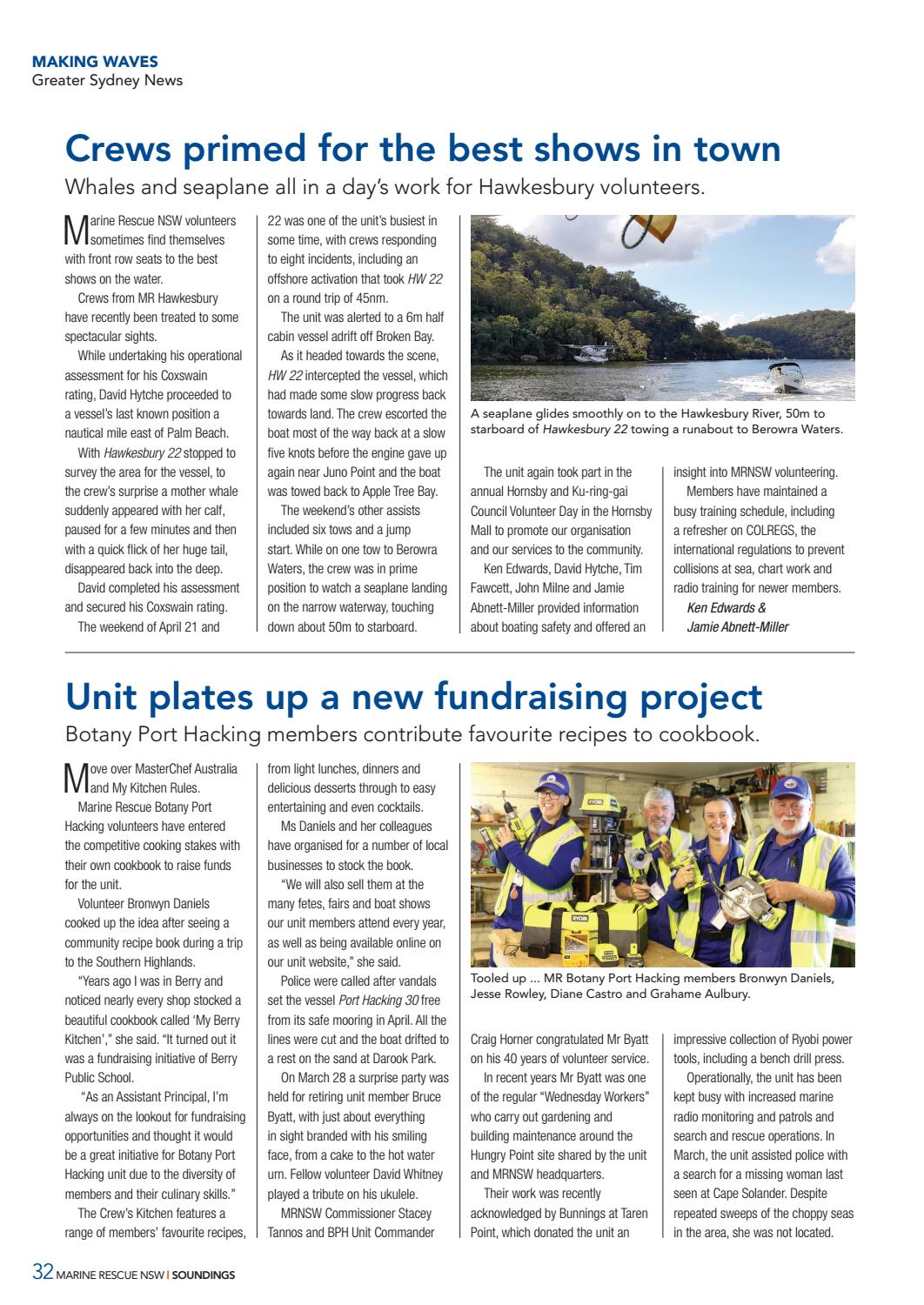 Soundings issue 35 winter 2018 by Marine Rescue NSW - issuu