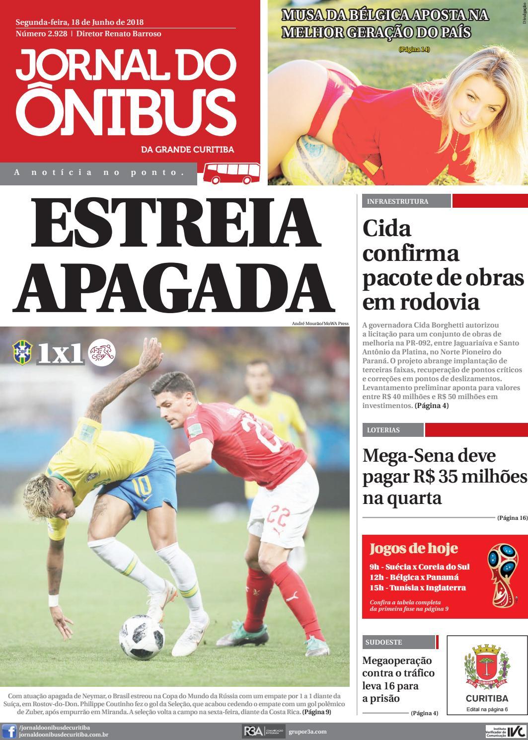 Jornal do Ônibus de Curitiba - 18 06 18 by Editora Correio Paranaense -  issuu b6d22f0000