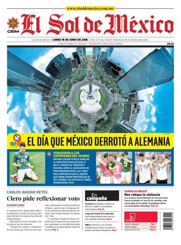 El Sol de México 18 de junio del 2018 by El Sol de México - issuu 155c99ecb8a0f