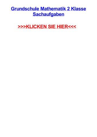 Grundschule mathematik 2 klasse sachaufgaben by richardcjjjs - issuu
