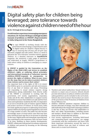 Page 10 of Digital safety plan for children being leveraged; zero tolerance towards violence against children need of the hour