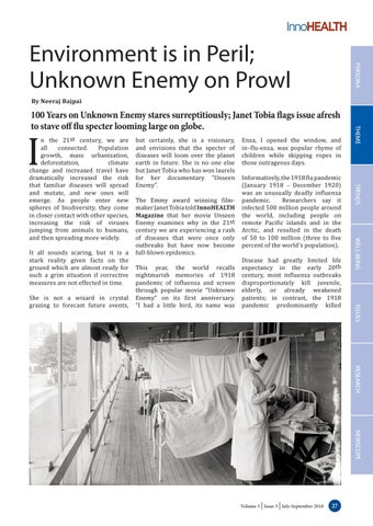 Page 27 of Environment is in Peril; Unknown Enemy on Prowl
