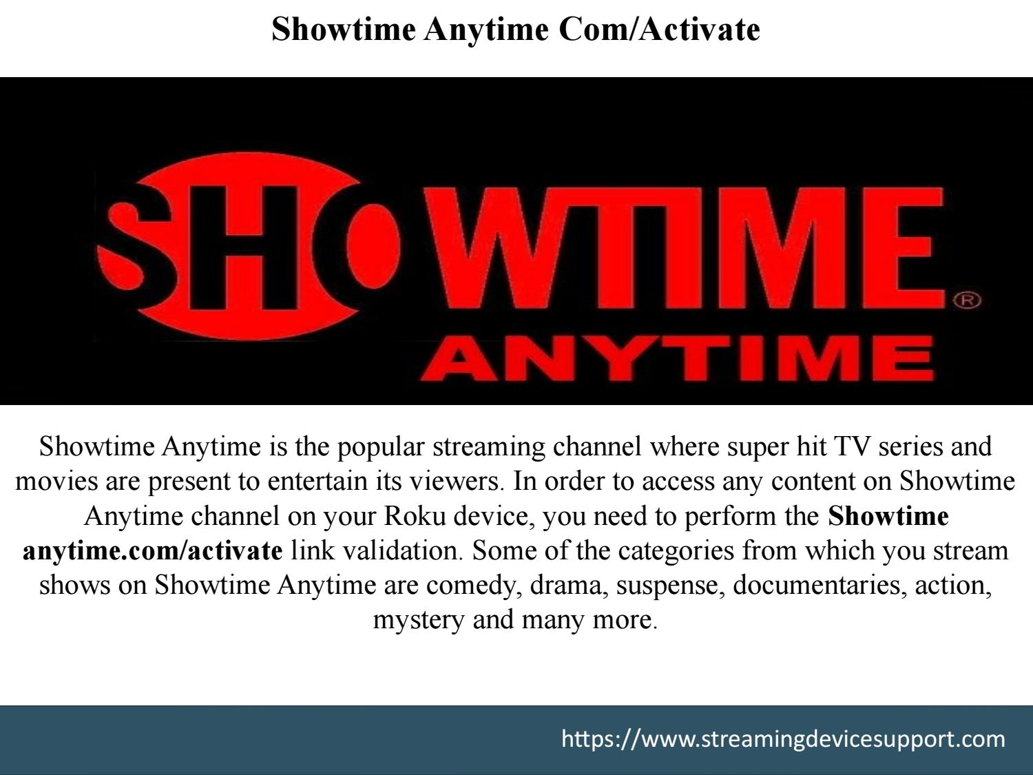 Step By Step Guide To Activate Showtime Anytime Com Activate On Your Roku Device By Rokucomlink Issuu