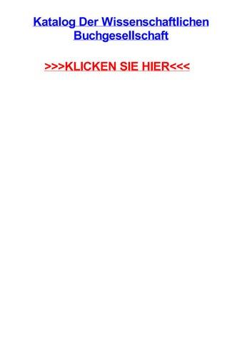 Katalog Der Wissenschaftlichen Buchgesellschaft By Jeremyaouul Issuu