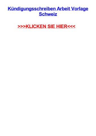 Kjndigungsschreiben Arbeit Vorlage Schweiz By Chriszusw Issuu