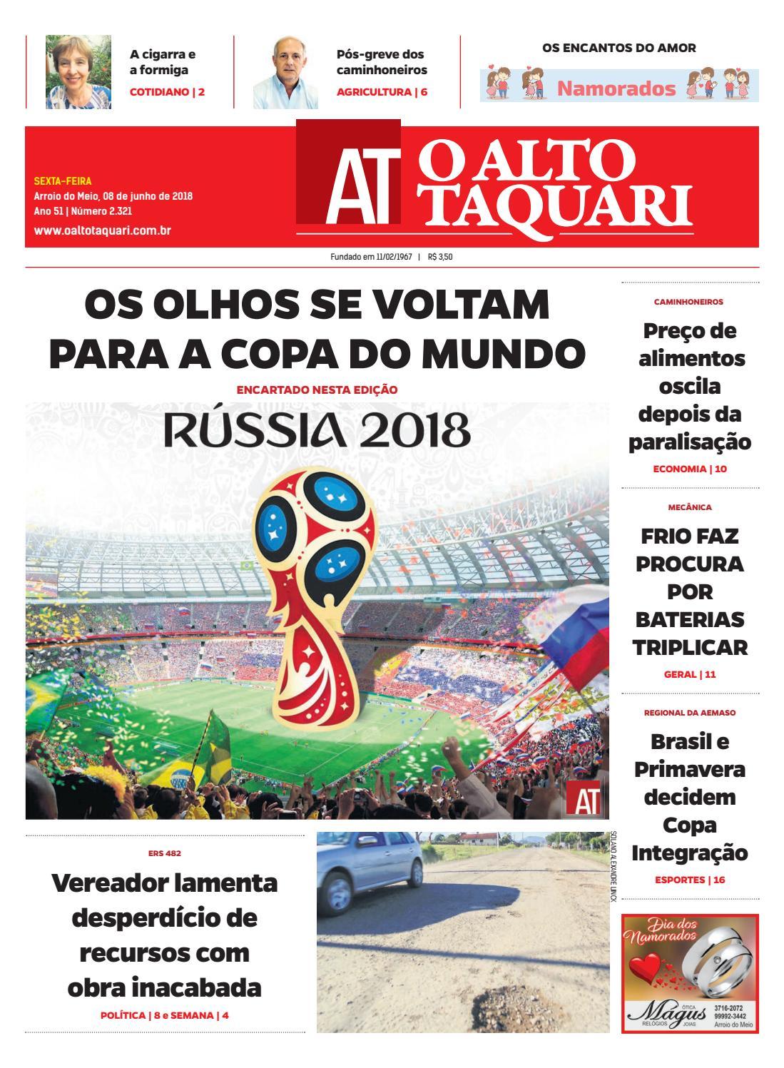d2f9eef8f Jornal O Alto Taquari - 08 de junho de 2018 by Jornal O Alto Taquari - issuu