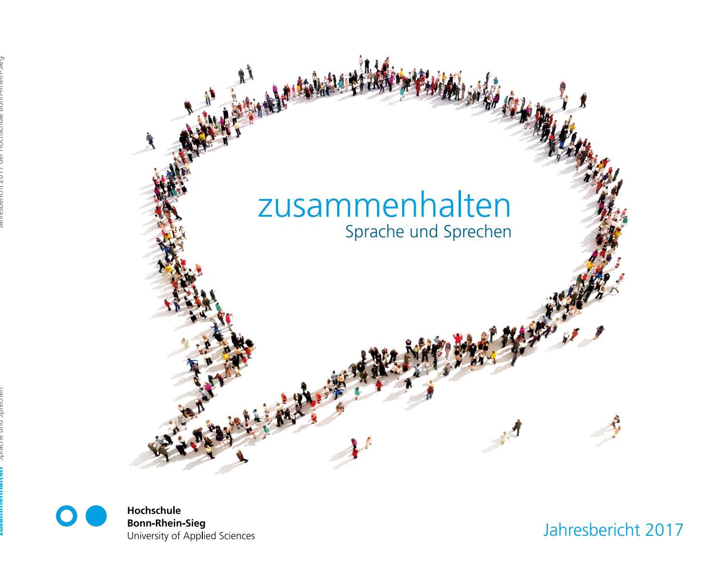 """""""zusammenhalten - Sprache und Sprechen"""", Jahresbericht 2017 der Hochschule  Bonn-Rhein-Sieg by Hochschule Bonn-Rhein-Sieg - issuu"""