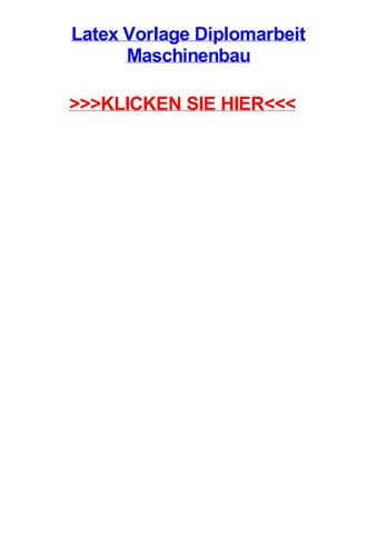 Latex Vorlage Diplomarbeit Maschinenbau By Kayxwfw Issuu
