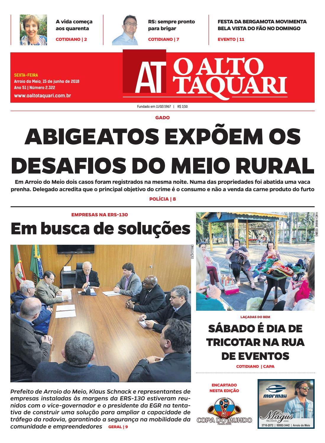 Jornal O Alto Taquari - 15 de junho de 2018 by Jornal O Alto Taquari - issuu 58e09debb55