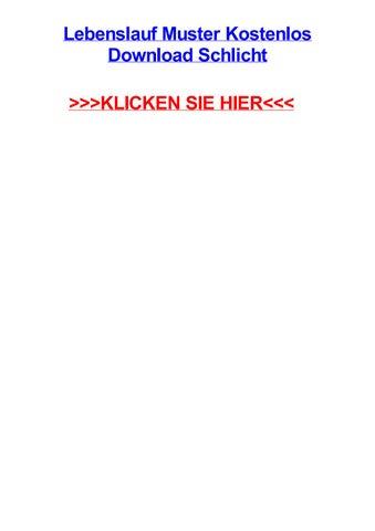 Lebenslauf muster kostenlos download schlicht by michaelutwtr - issuu