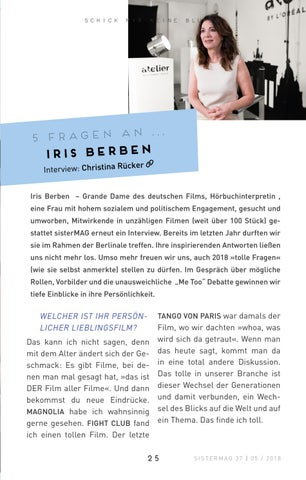 Page 25 of 5 Fragen an Iris Berben