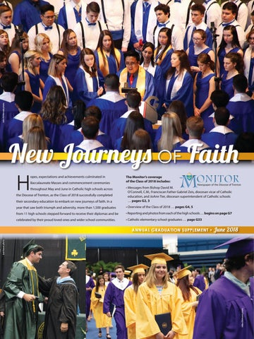 7cf25518f455 Monitor 2018 Graduation Issue  New Journeys of Faith by Diocese of ...