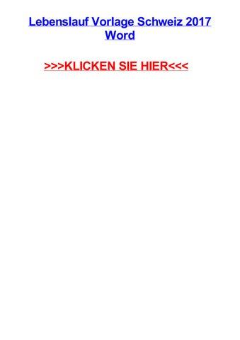 Lebenslauf Vorlage Schweiz 2017 Word By Angelsmjb Issuu